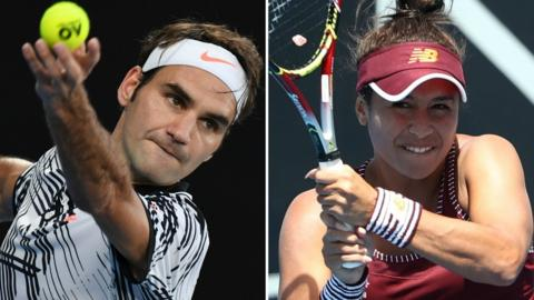 Roger Federer and Heather Watson