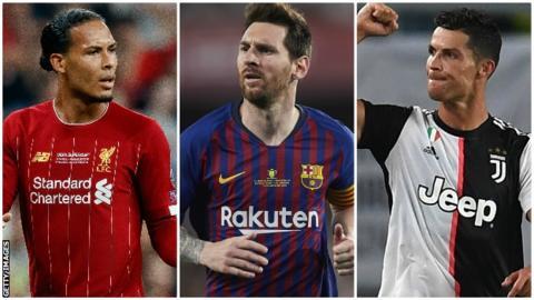 online store 664b9 d7b86 Virgil van Dijk, Lionel Messi and Cristiano Ronaldo - who ...
