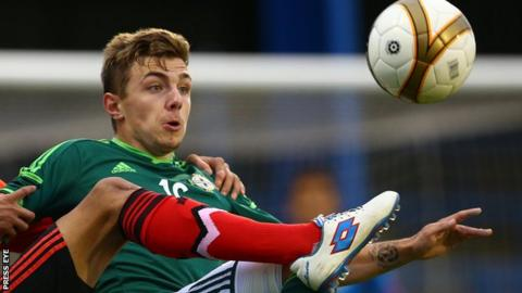 Robbie McDaid also has international experience as a Northern Ireland youth player