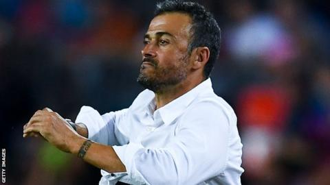 Barcelona coach Luis Enrique