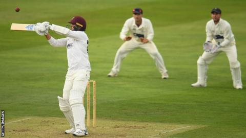 Jack Brooks in action against Glamorgan