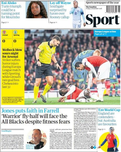 Guardian back page on Friday