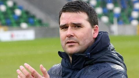 Healy took over from Warren Feeney as manager of Linfield