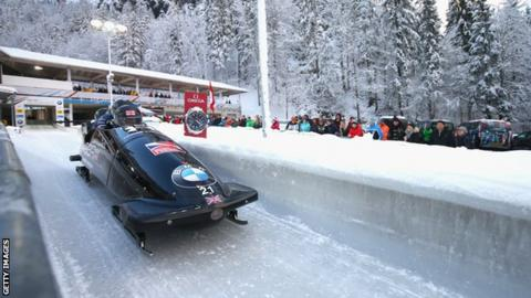 British bobsleigh pilot Brad Hall