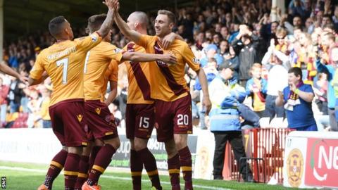 Motherwell celebrated just their second league win of the season