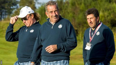 Miguel Angel Jiminez, Sam Torrance and Jose Maria Olazabal