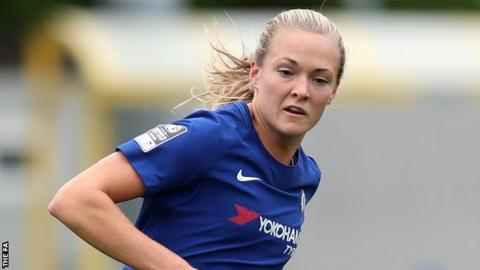 Magdalena Eriksson in action for Chelsea