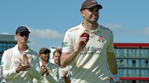 James Anderson's 46th five-wicket haul in first-class cricket was his first for Lancashire since his county best 7-77 against Essex at Chelmsford in September 2015