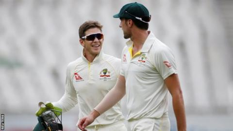 Tim Paine and Pat Cummins