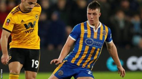 Shrewsbury's Ryan Sears has made 10 first-team appearances for the League One club