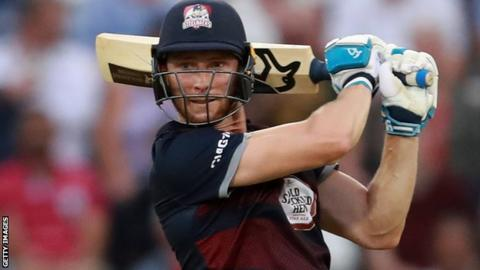 Rob Keogh in action for Northamptonshire