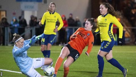 Glasgow City defeated Brondby on penalties to reach the Champions League last eight