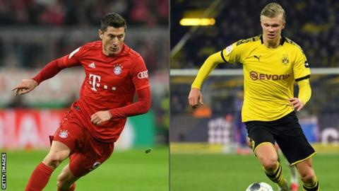 Robert Lewandowski and Erling Braut Haaland