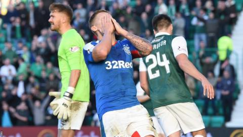 Martyn Waghorn shows his disappointment