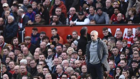 Jose Mourinho at Old Trafford