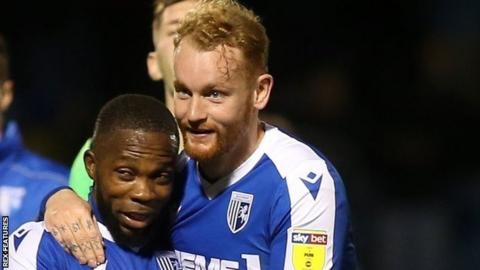 Connor Ogilvie's 86th-minute goal was his second late winner in Gillingham's last three home games