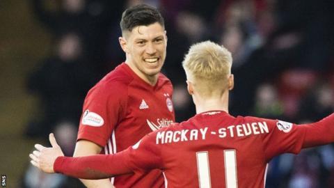 Aberdeen's Scott McKenna and Gary Mackay-Steven