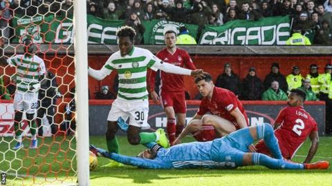 Jeremie Frimpong scores Celtic's second goal