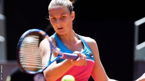 Karolina Pliskova beats Simona Halep