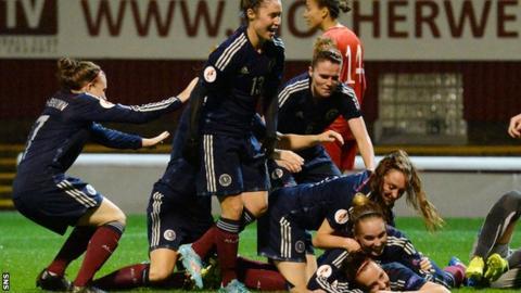 Scotland women celebrate