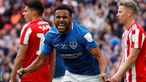 Portsmouth full-back Nathan Thompson