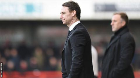 Jamie Fullarton on the touchline with Notts County