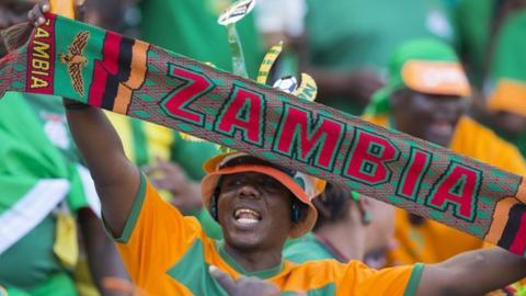 A Zambia football supporter