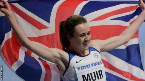 Laura Muir won two medals at this year's World Indoors in Birmingham