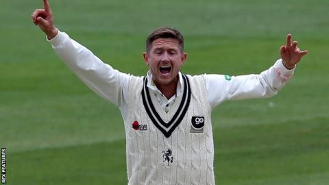 Kent's Joe Denly appeals for a wicket