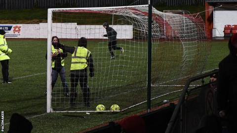 Cliftonville's game against Ballymena was among the games hit by Storm Eleanor