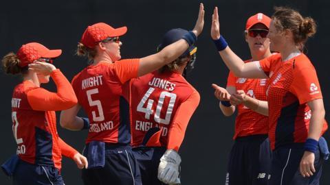 England celebrate during their tour of Sri Lanka