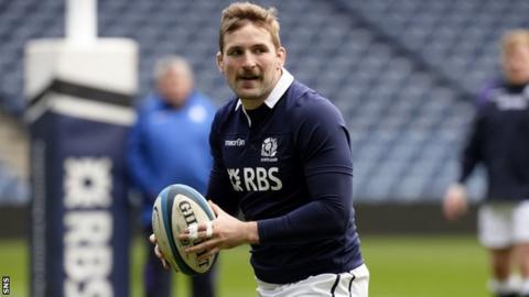 John Barclay in training for Scotland
