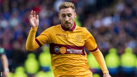 Louis Moult in action for Motherwell against Rangers