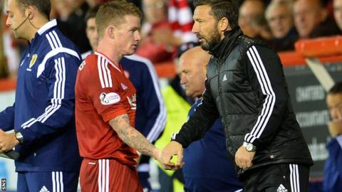 Jonny Hayes and Derek McInnes