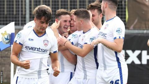 Coleraine beat Dungannon Swifts 3-1 at Stangmore Park on the opening day of the season