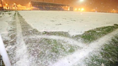 The Ballymena Showgrounds had originally been deemed playable after a mid-afternoon inspection