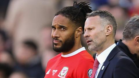 Ashley Williams and Wales boss Ryan Giggs