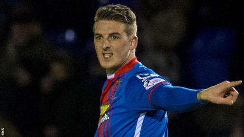 Liam Hughes in action for Inverness Caledonian Thistle