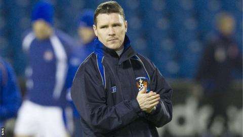 Kilmarnock's caretaker manager Paul McDonald