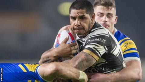 Albert Kelly in action for Hull FC