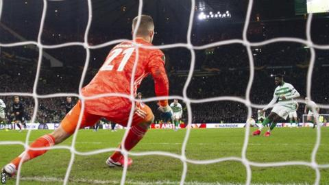 Odsonne Edouard's penalty levelled the tie before Celtic's late collapse