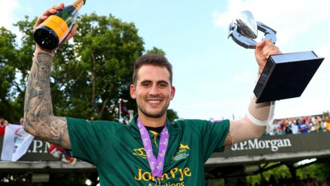 Alex Hales was part of the Notts side that won both the One-Day Cup and the T20 Blast in 2017