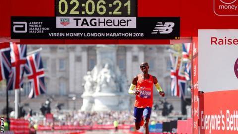 Mo Farah at the London Marathon