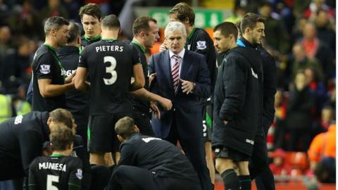 Stoke City manager Mark Hughes inspired his side to their first win at Anfield in 56 years