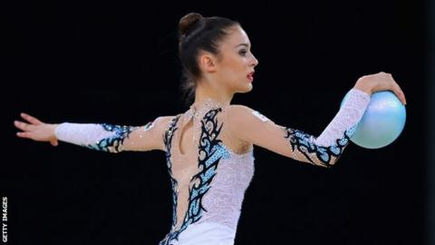 Laura Halford in action during a ball routine