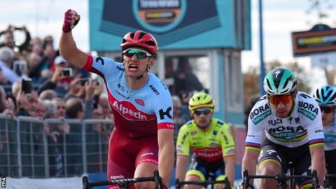 Kittel sprints to victory as Bevin takes Tirreno lead