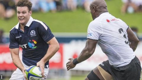 Taylor's last appearance for Scotland was against Fiji in summer 2017