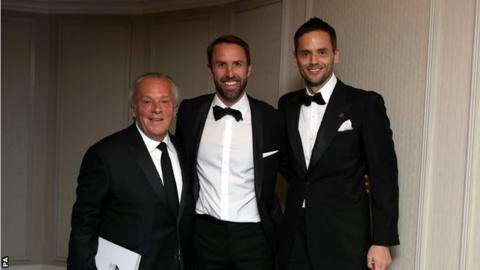 Gordon Taylor, Gareth Southgate and Ben Purkiss