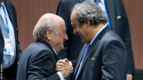 Fifa president Sepp Blatter (left) and Michel Platini