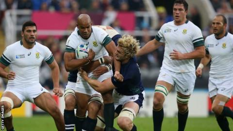 Scotland could not live with the power of the South Africans in the first half